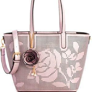Handbags - 2in1 Designer Rose Pattern Laser Cut Shoppe
